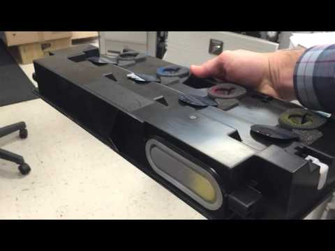 Sharp Copier Waste Toner Box - Emptying process