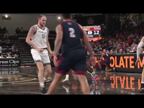 Detroit Mercy Men's Basketball At Oakland Highlights