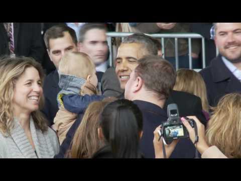Former Pres. Barack and Michelle Obama Departing Joint Base Andrews