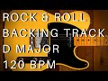 Rock & Roll Guitar Backing Track (The Rolling Stones Style) | D Major (120 Bpm)