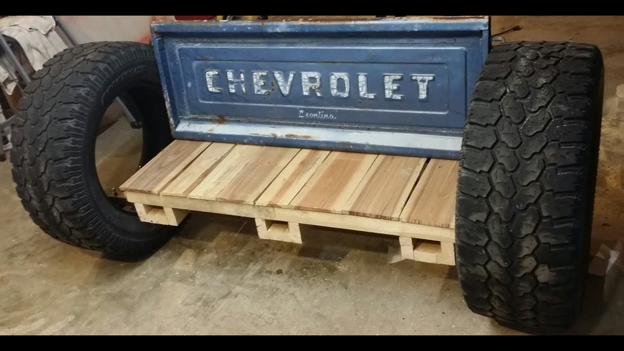 Homemade Rocking Tailgate Bench Youtube