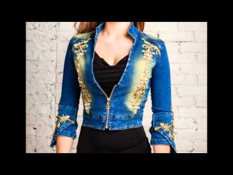 Красивые женские джинсовые болеро, разные модные варианты