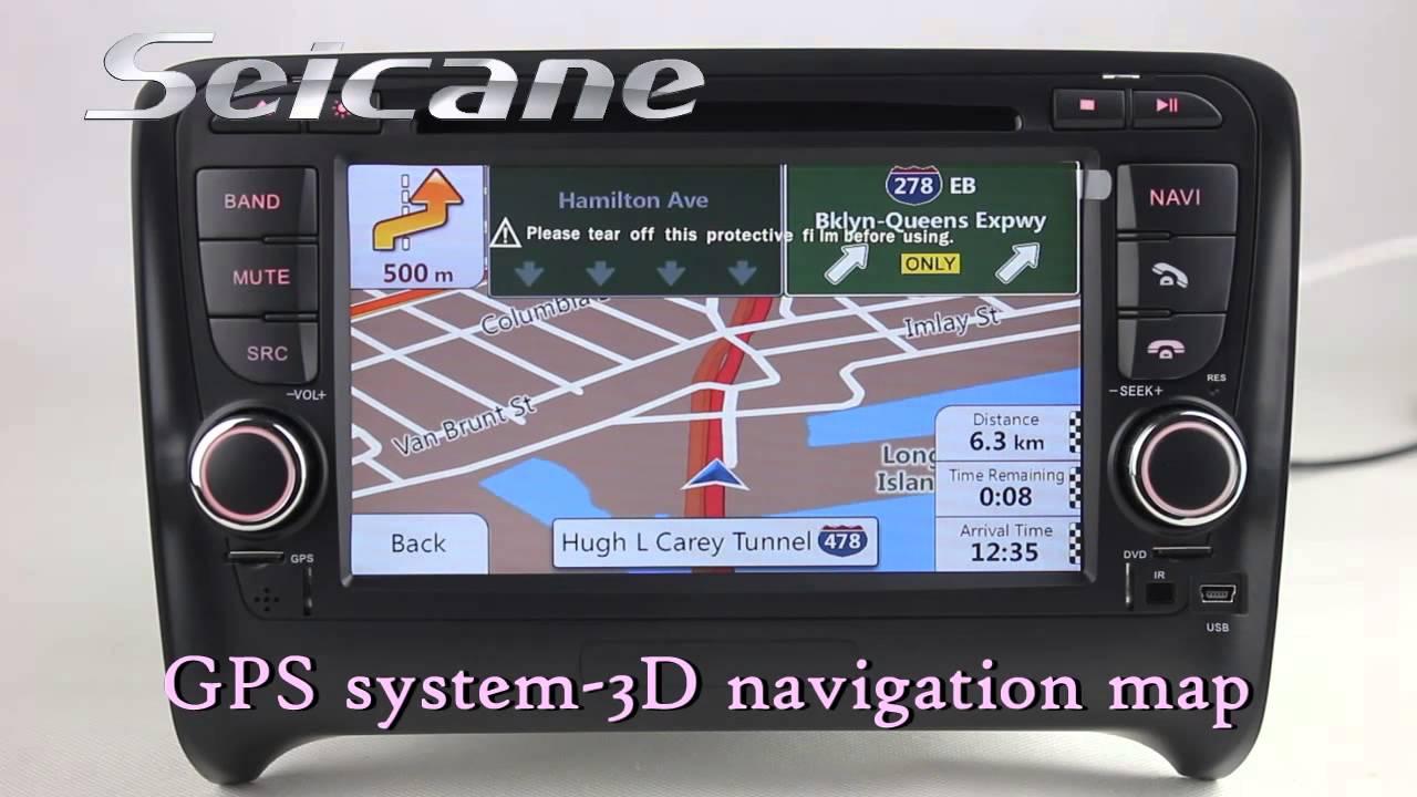 Audi TT Navigation, 2006-2013 Audi TT TTS Bluetooth Radio CD Player with 3G POP Front & Rear AUX ...