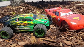 Cars for Kids Race RC Mcqueen Vs Four-wheel drive