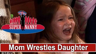 Mum Wrestles Screaming Child Onto Naughty Step | Supernanny