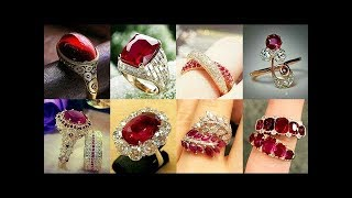 Latest Engagement Ruby Rings Designs 2019