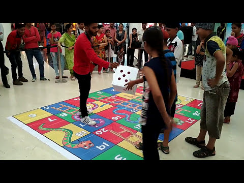 Ludo game in Real life    kids playing...