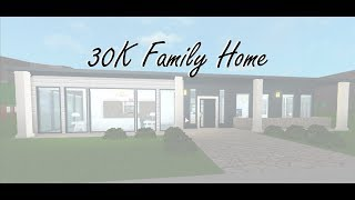 30K FAMILY HOME | Roblox Welcome To Bloxburg Speedbuild