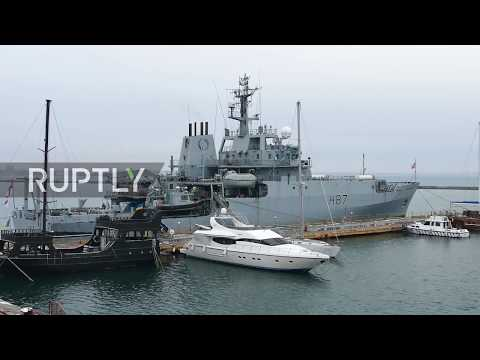 Ukraine: Royal Navy intelligence ship HMS Echo enters Odessa port