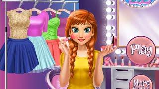 NEW мультик онлайн для девочек—Время макияжа Анны—Игры для детей