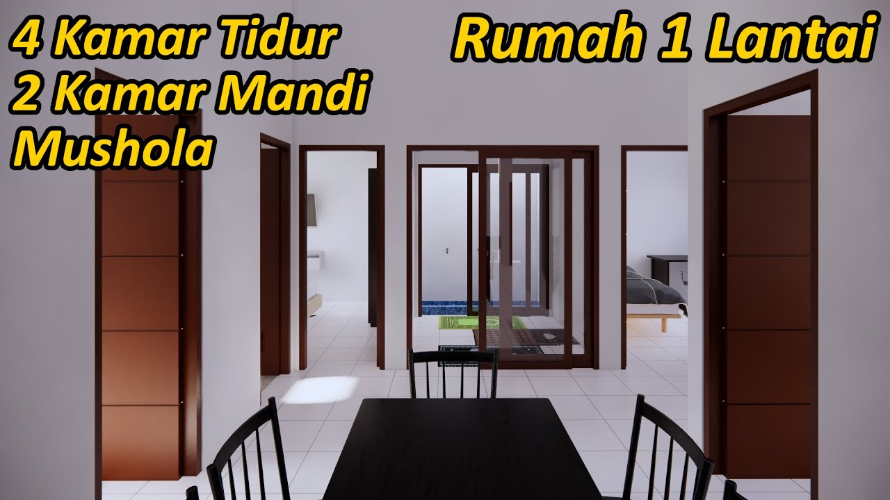 Rumah Minimalis 1 Lantai 4 Kamar Tidur Youtube