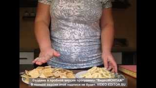 торт за 10 минут (вафельный с бананами)