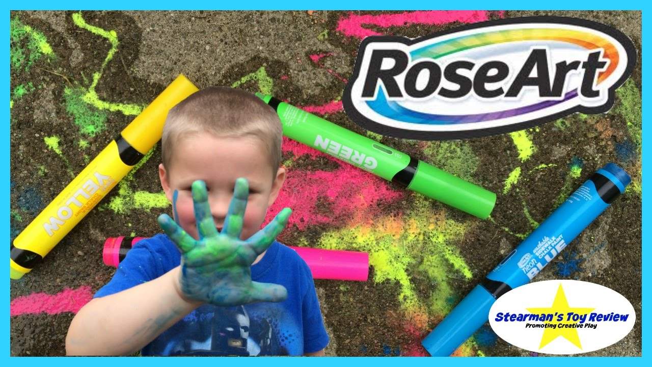 washable side walk chalk paint markers from roseart neon colors