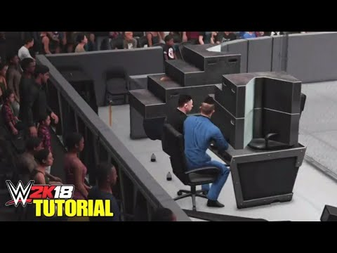 WWE 2K18 Tutorial: Steel Steps On The Announce Table