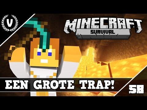 """""""EEN GROTE TRAP!"""" - Minecraft Survival - Aflevering 58"""