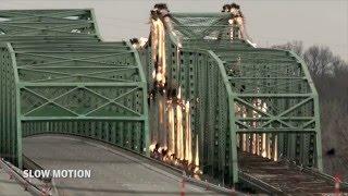 1930's era Boone Bridge comes tumbling down - on purpose
