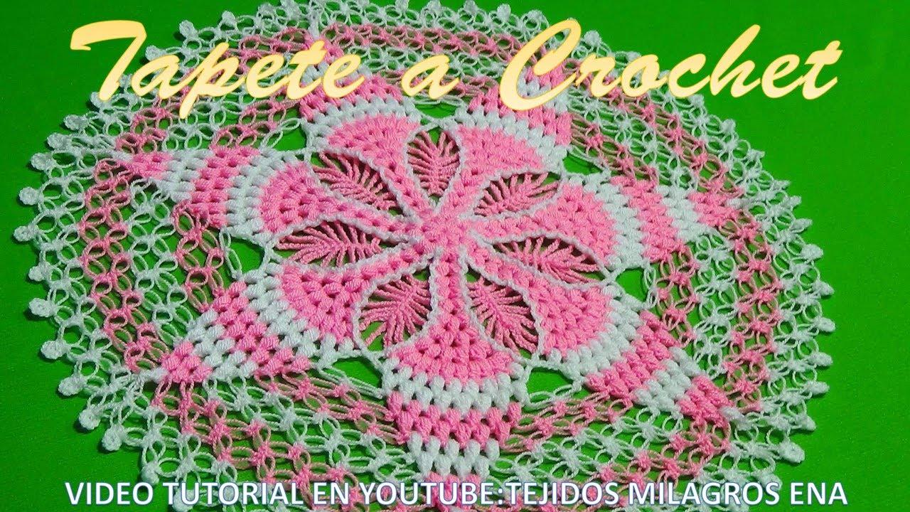 Tapete a crochet paso a paso con puntos garbanzos o puff y for Tapetes de crochet