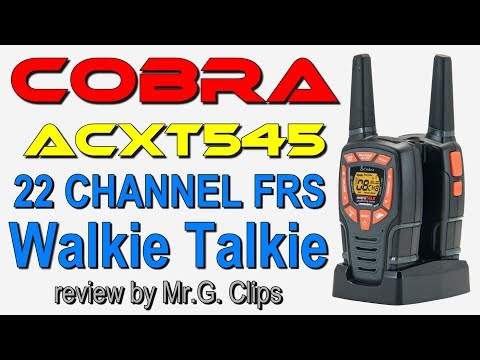 Cobra Acxt545 28 Mile Range Walkie Talkie Review Samye Populyarnye