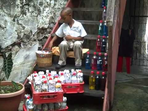 video 11-11-11Art Fabrik Batik in Grenada upcycling production waste to reuse as bricks.mp4