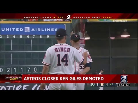 Astros closer Ken Giles demoted