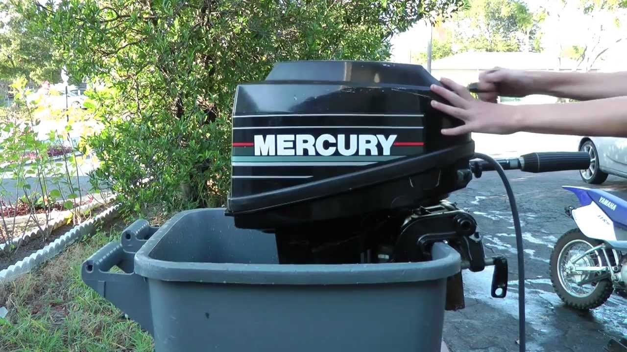 9 9hp mercury 2 stroke outboard tiller motor start up youtube rh youtube com Mercury 110 Outboard Motor 110 Kiekhaefer Mercury 9.9 HP