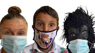 Stefan e uma HISTÓRIA da MÚSICA DA MÁSCARA Com Gorila - MÚSICAS PARA CRIANÇAS | Kids song