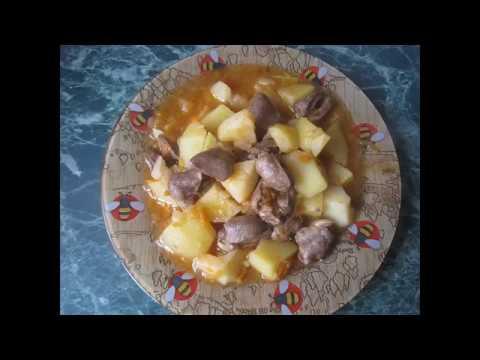 сердечки куриные в горшочке с картошкой рецепт пошагово