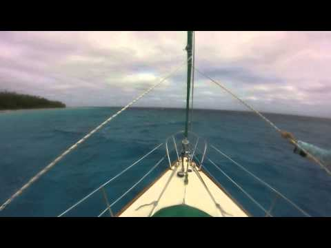 Anchorage Island, Suwarrow in 30+ knots of wind