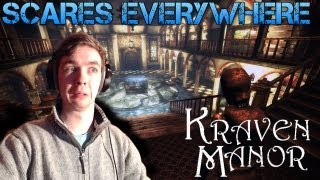 Kraven Manor - SCARES EVERYWHERE - Part 1 Indie Horror Game - Gameplay/Commentary/Facecam reaction