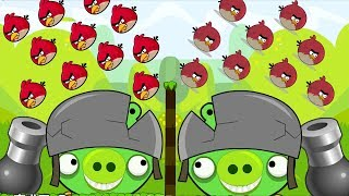 Angry Birds Collection Cannon 1 - OVERDRIVE THROW 100 BIRDS TO BOSS PIGS HELMET!