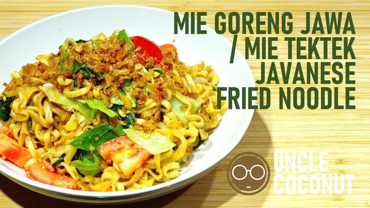 Mie Goreng Jawa Mie Tek Tek Super Easy Javanese Fried Noodle Youtube