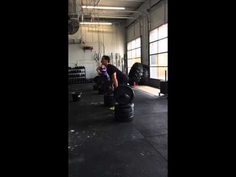 Slow Mo Hang Clean postion from Blocks 225#