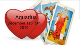 Aquarius ❤ December 2019 *Small offers of love morph into BIG love very quickly*