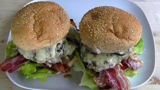 Burger Deluxe Bacon Cheese Recipe How To Cook Tasty Burgers