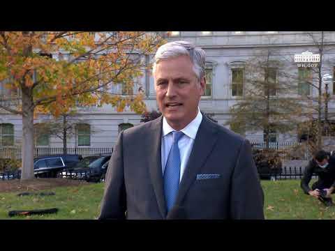 National Security Advisor Robert O'Brien Delivers Remarks