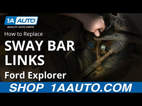 How To Install Replace Front Stabilizer Links 2001-10 Ford Explorer Sport Trac