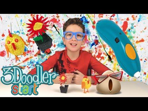 3Д Химикалка   Как да си направим ЯКИ 3D ОЧИЛА!!! [ЛЕСНО] 3Doodler Start