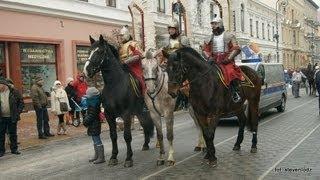 WOŚP - Łódź 2013 - Amazonki, husaria, wojsko, karety, rydwan, Straż Miejska itp.