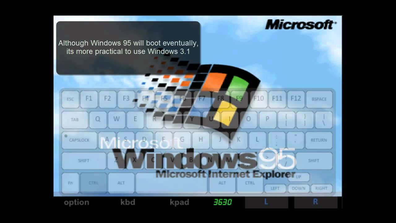 Running Windows 95 on iPhone using iDOS (Dosbox)