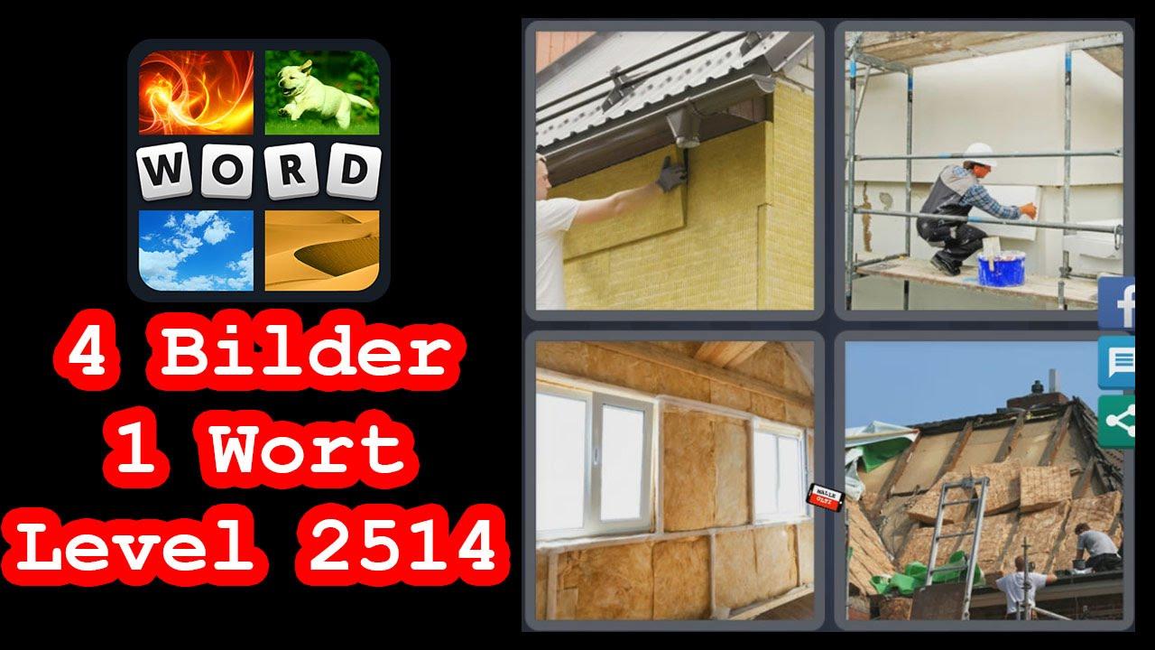 4 Bilder 1 Wort Mauer Kleber