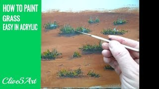 How to Paint Grass Quick and Easy Acrylic Painting Painting Tutorial