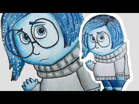 Como Desenhar A Tristeza De Divertida Mente How To Draw Sadness