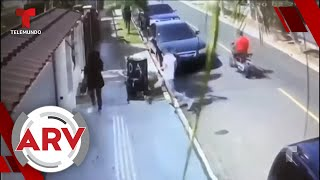 Una mujer se agarra a puños con ladrón que le intentaba robar su cartera | Al Rojo Vivo | Telemundo
