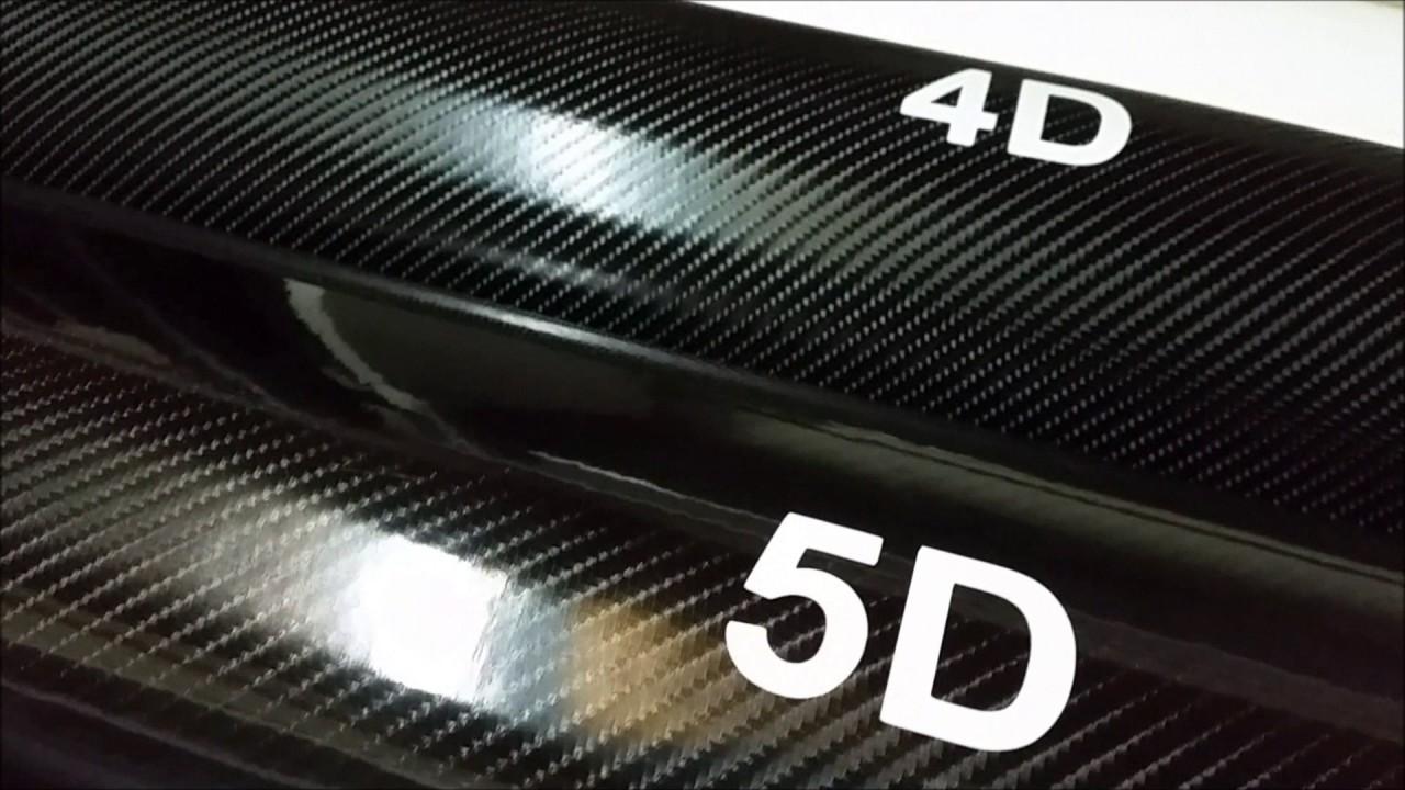 carbone 3d 4d 5d comparaison des trois films vinyle youtube. Black Bedroom Furniture Sets. Home Design Ideas