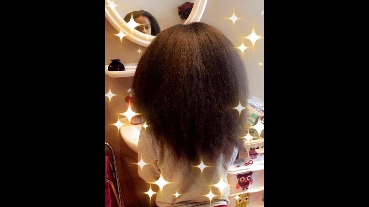 petite fille cheveux afro lissage pour les f tes youtube