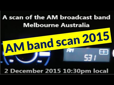 AM radio band scan from Melbourne Australia - 2 December 2015