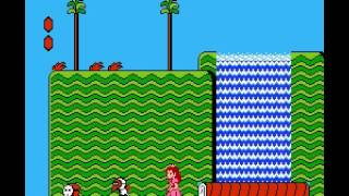 Super Mario Bros 2 - 2nd Run - smb 2 (second run) Part 1= oppa peach style - User video