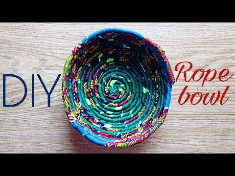 Beautarie Home Diy African Print Rope Bowl For Room