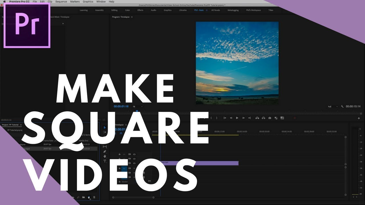 How to Make Square Videos In Premiere Pro