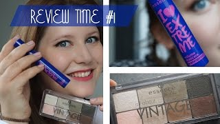 Review Time #1 - Essence I Love Extreme Waterproof Mascara & all about Vintage Palette